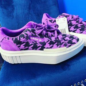 Purple Adidas platform